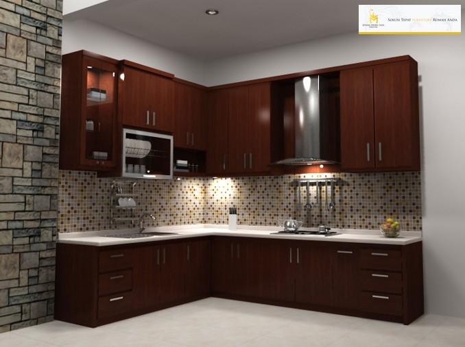 Kitchen set murah kayu jati minimalis jepara terbaru for Kitchen set jati minimalis