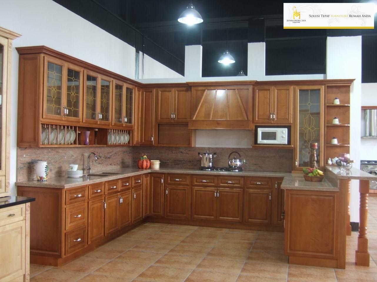 Kitchen Set Minimalis Kayu Jati Terbaru Jepara Mebel Jaya