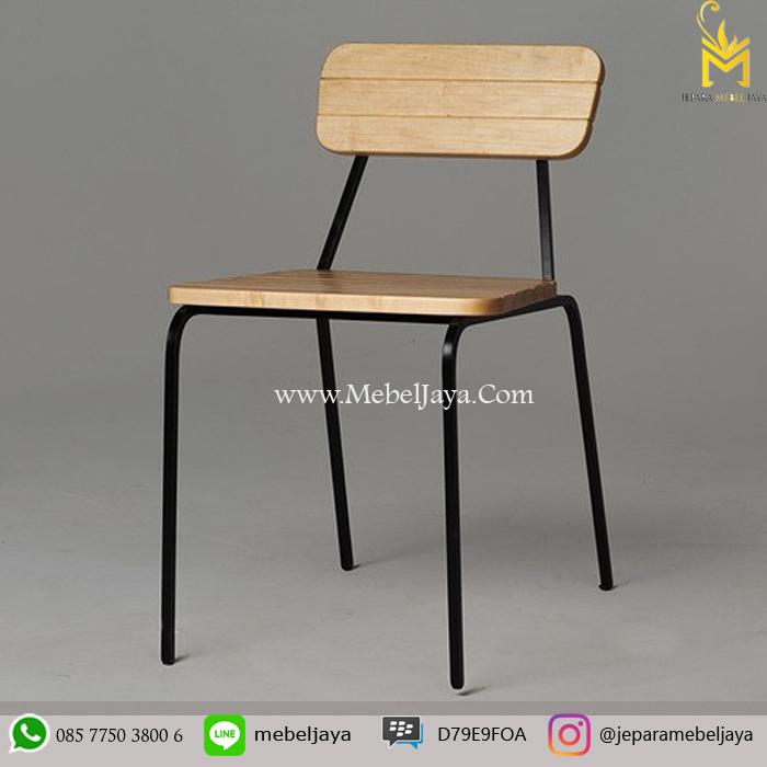 Kursi Cafe Kayu Rangka Besi Jepara Mebel Jaya