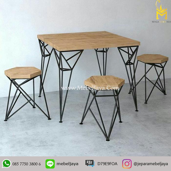 Meja Kursi Cafe Besi Jepara Mebel Jaya