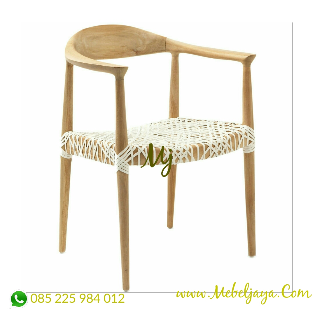 kursi cafe kayu anyaman tali