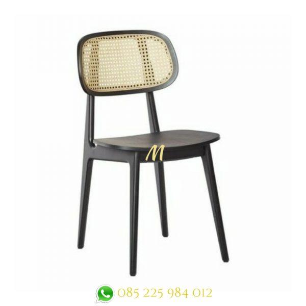 kursi makan rotan kayu