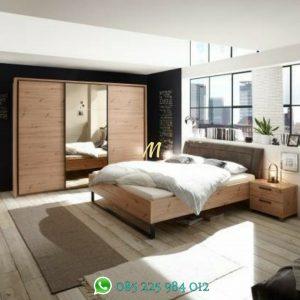tempat tidur kayu industrial