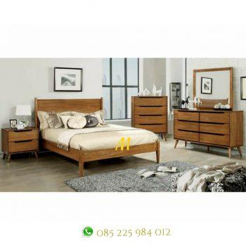 set kamar retro kayu