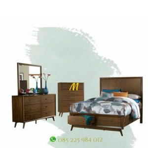 set kamar tidur minimalis retro