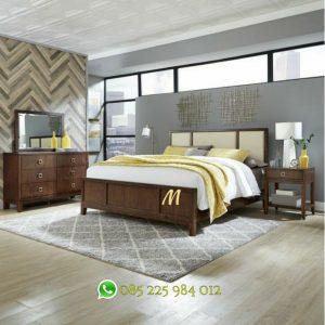set tempat tidur minimalis jati