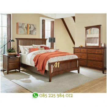 set tempat tidur murah kayu jati