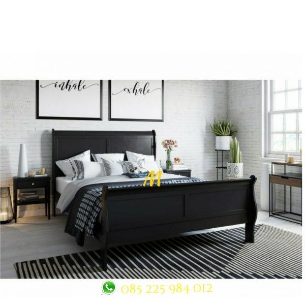 tempat tidur klasik mahogany