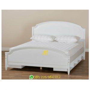 tempat tidur putih storage