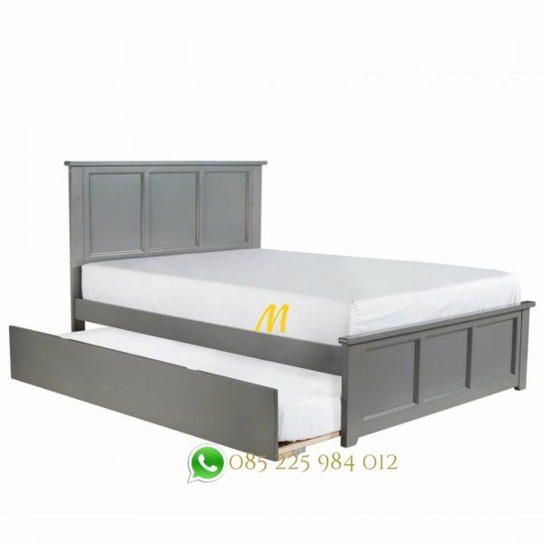 tempat tidur sorong grey