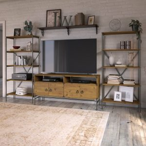 jual meja tv industrial set