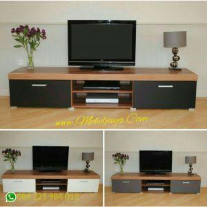 jual meja tv minimalis modern kayu