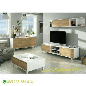 set meja tv minimalis retro