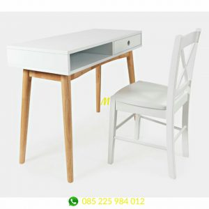 meja belajar minimalis modern scandinavia adly
