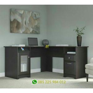 meja kerja L minimalis modern